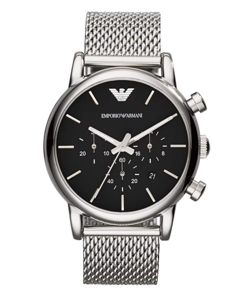 Afbeelding van Armani AR1811 herenhorloge zwart edelstaal