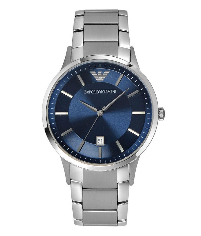 Afbeelding van Armani AR2477 herenhorloge blauw edelstaal