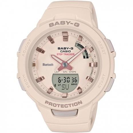 Afbeelding van Baby G Stepcounter Bluetooth Connected horloge BSA B100 4A1ER