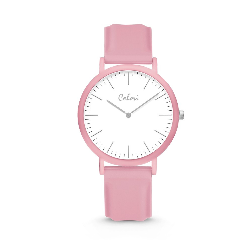 Colori Essentials 5 COL582 Horloge - Siliconen Band - Ø 40 mm - Roze  1