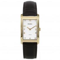 Prisma P.1967 Horloge staal/leder goudkleurig-bruin 1