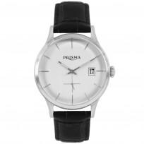Prisma Herenhorloge P.2772 Lederen band Zilver 1
