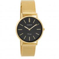 OOZOO Horloge Vintage goudkleurig mesh 32 mm C9349 1