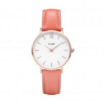 CLUSE CL30045 Horloge Minuit staal/leder rosekleurig-flamingo 1