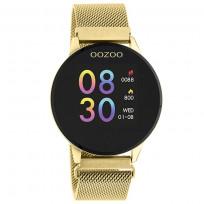 OOZOO Smartwatch Q00121 Mesh staal goudkleurig-zwart 43 mm 1