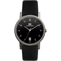 Danish Design IQ13Q170 Horloge titanium/leder 34 mm  1