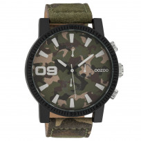 OOZOO C10066 Horloge Timepieces Collection staal darkarmy 50 mm 1