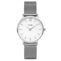 Cluse CW0101203002 Horloge Minuit Mesh silver-white 33 mm  1