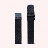 KRAEK Black Mesh   18 mm 18 mm horlogebandje 1