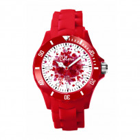 Colori Love 5 COL539 Horloge - Siliconen Band - Ø 40 mm - Rood  1