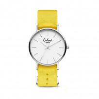Colori XOXO 5 COL551 Horloge geschenkset met Armband - Nato Band - Ø 36 mm - Geel / Zilverkleurig  1
