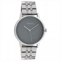 OOZOO C10555 Horloge Timepieces staal silver-grey 36 mm 1