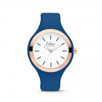 Colori Horloge Macaron staal/siliconen rosé-blauw 44 mm 5-COL506  1