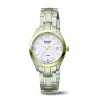 Boccia 3317-03 Horloge Titanium Saffierglas zilver-en goudkleurig 31 mm 1
