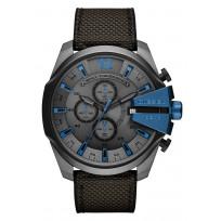 Diesel DZ4500 Horloge Mega Chief zwart/blauw 52 mm 1