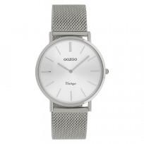 OOZOO C9906 Horloge Vintage Mesh zilverkleurig 36 mm 1