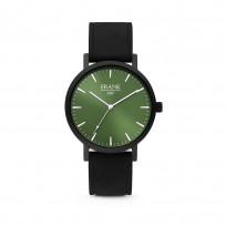 Frank 1967 7FW 0004 Horloge staal/leder zwart-groen 42 mm 1