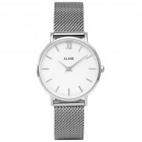 CLUSE CG1519203003 Minuit Mesh zilverkleurig + extra horlogeband 33 mm 1
