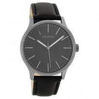 OOZOO C8544 Horloge Timepieces Collection staal/leder Black 40 mm 1