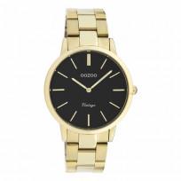 OOZOO C20035 Horloge Vintage staal goudkleurig-zwart 38 mm 1