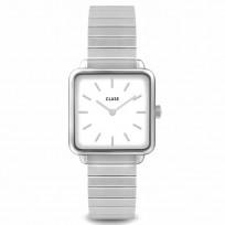 CLUSE CW0101207021 Horloge La Tetragone zilverkleurig 26 mm 1