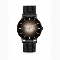 Kaliber 7KW 0009 Horloge met Meshband Ø40 mm zwart-rosékleurig 1