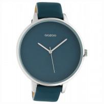 OOZOO C10571 Horloge Timepieces staal/leder Virridi Green 48 mm 1