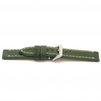 Horlogeband I816 Vintage Nubuck Grijs/Groen 24 mm 1