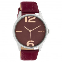 OOZOO C10378 Horloge Timepiece Collection Burgundy Croco 45 mm 1