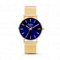 Colori Horloge XOXO staal mesh goudkleurig 36 mm 5-COL447  1