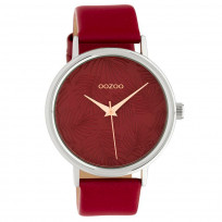 OOZOO C10164 Horloge Timepieces Collection donkerrood 42 mm 1