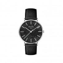 Frank 1967 7FW 0018 Horloge staal/leder zilverkleurig-zwart 42 mm 1