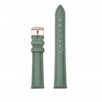 CLUSE CS1408101084 Horlogeband leder groen-rosekleurig 16 mm 1