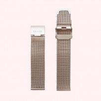 KRAEK Rose Gold Mesh   18 mm 18 mm horlogebandje 1