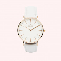 KRAEK Robyn | Rose Gold | White 36 mm Dameshorloge 1