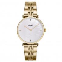 CLUSE CW0101208014 Horloge Triomphe Pearl goudkleurig-wit 33 mm 1