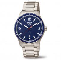 Boccia 3635-04 Horloge Titanium zilverkleurig-blauw 42 mm 1