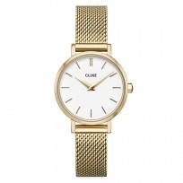 CLUSE CW0101211001 Horloge LA Boheme Petit Mesh goudkleurig-wit 28 mm 1