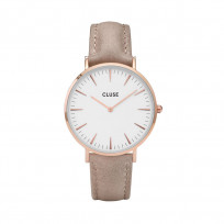 CLUSE CW0101201015 La Bohème Rose Goldplated White Hazelnut horloge 1