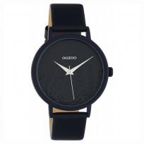OOZOO C10607 Horloge Timepieces aluminium/leder darkblue 36 mm 1