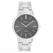 OOZOO C20030 Horloge Vintage staal zilverkleurig-grijs 38 mm 1