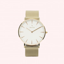 KRAEK Alouette | Rose Gold | Mesh 36 mm Dameshorloge 1