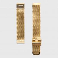 KRAEK Gold Mesh   16 mm  horlogebandje 1