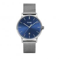 Cluse CW0101501004 Herenhorloge Mesh Aravis zilverkleurig-blauw 40 mm 1