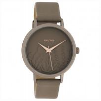 OOZOO C10603 Horloge Timepieces aluminium/leder taupe 36 mm 1