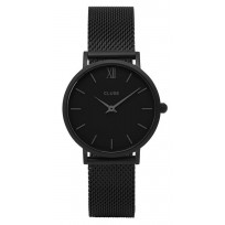 CluseCW0101203012  horloge Minuit Mesh full black 33 mm  1