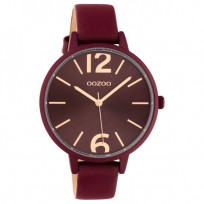 OOZOO C10444 Horloge Timepieces Collection burgundy 42 mm 1