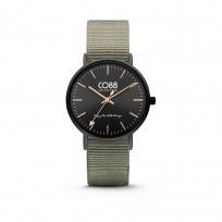 CO88 Horloge staal/nylon zwart/groen 36 mm 8CW-10037  1
