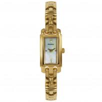 Prisma Dameshorloge goudkleurig saffierglas Zwitsers uurwerk P.1761 1
