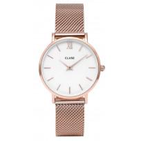 Cluse horloge CW0101203001 Minuit Mesh rosegold-white 33 mm 1